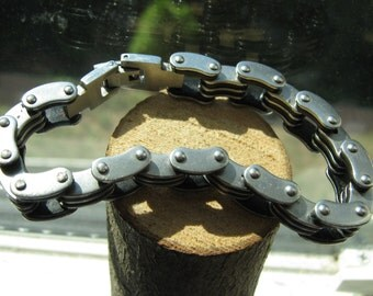 Stainless Steel Bike Chain Biker Bracelet for Men or Women
