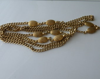 On Sale Monet gold plated long chain necklace. 54""