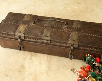 Remote Control Caddie Jewelry Box Vintage Indian Industrial Rusty Iron Hand Cut Metal Hearts Folk Art Box Boho Decor Moroccan Decor