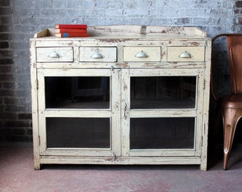 Boho Buffet Reclaimed Cottage Chic Sideboard Salvaged Sink Vanity Industrial Media Console Beach Decor Indian Furniture Rustic Interior