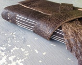 Longstitch Binding - Handbound in brown leather