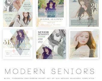 Modern Seniors vol 5 Blog, Facebook and Instagram ready Templates