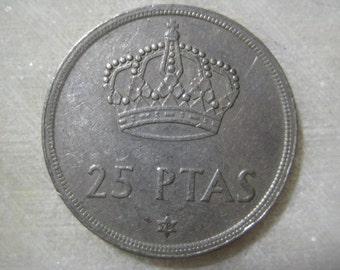 Spain 1983,  5 Pesetas  Coin - Juan Carlos I, Coat of Arms of Spain