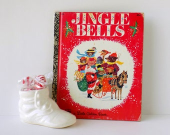 Vintage Jingle Bells. A Little Golden Book. Kathleen N. Daly and J.P. Miller 1976. Children's Christmas Book. Kid's Storybook. Picture Book