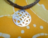 Mother of Pearl Carved Eternal Knot Hemp Necklace