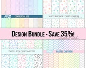 Digital paper Sale 35% OFF Pastel digital paper pastel Baby digital paper baby sale digital paper Printable patterns sale items discount
