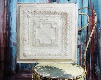 Tin Ceiling Tile ~ 18 x 18 ~ salvaged