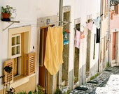 Laundry Room Art - Photography Collection - European Laundry Photographs - Lisbon Greece - Wall Art - Home Decor - Custom Order
