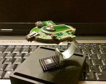 U.S.S. Defiant Created from Upcycled Computer Parts