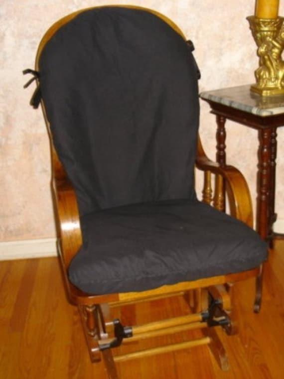 Glider Rocker Slip Cover FOR YOUR Glider Cushions - Black Slipcover or ...
