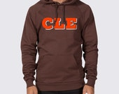 Cleveland CLE Brown and Orange Pullover Hoodie ( Cleveland Browns Hoodie, Browns Hooded Sweatshirt, Johnny Manziel Sweatshirt, CLE Hoodie )