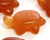 MOVING SALE Carnelian Bead - Turtle Shape - One Piece