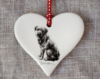 Valentine's Border terrier Heart
