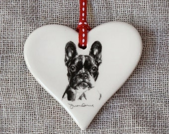 Valentine's French Bulldog Heart
