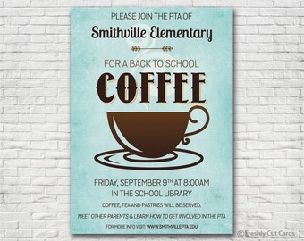 Join Us for Coffee Invitation - Printable or Printed (w/ FREE Envelopes)