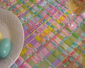 Springtime Woven Ribbon Table Runner RESERVED FOR PEARCH