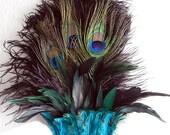 Egyptian Peacock w/Ostrich Feather Headdress Samba Dance Cabaret Headpiece