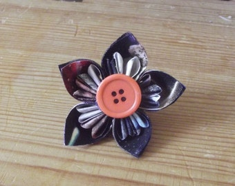 Seconds Space Fabric Handmade Origami Hair Clip Accessory