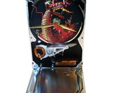 """Hard Drive Clock with Computer Parts """"Dragon"""" Dial.  Our """"Fire-Breathing Dragon"""" Looks Awesome!"""