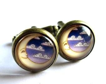 Moon Cufflinks Jewelry For Men