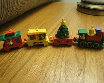 Four Piece Train Ornaments