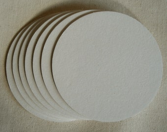 BLANK COASTERS 100 round 4 Inch Heavy weight 2 mm for decorating, crafting, scrapbooks, wedding, party, paper goods, craft projects,...