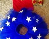 Wonder Woman Tutu Costume Halloween Costume Dress up
