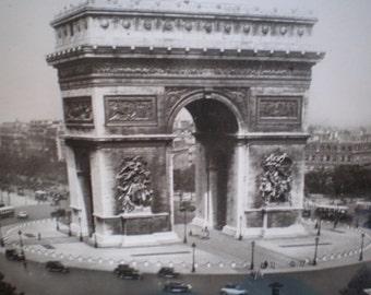 Vintage Mid Century Unused French Postcard - Arc De Triomphe