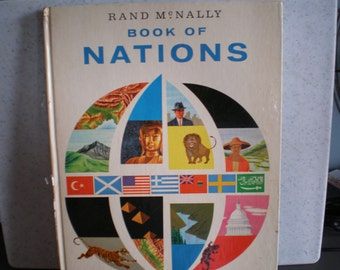 Vintage Mid Century Rand McNally Maps - Book Of Nations