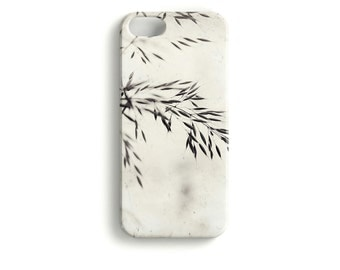 Fragile - phone Case Nature Macro black white modern simplistic floral grass bloom