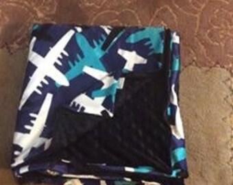 Plane Minky Blanket