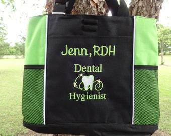Personalized DENTAL HYGIENIST  Tote Bag Dental Hygienist Gift  Teeth Tote   Dental Tote Bag