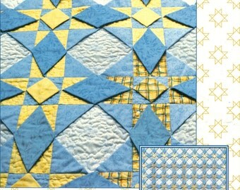Storm At Sea in 3-D Quilt PATTERNS Signed by Jackie Robinson Triangle Patchwork
