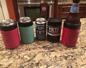 Custom painted Yeti COLSTER triple insulated koozie color works with cans or bottles great gift idea!