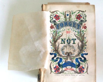1849 Forget Me Not Book