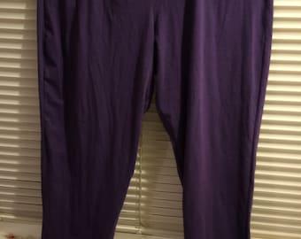 "Sale!/Shapewear leggings/longjohns 3X purple polyester/cotton blend NWOT ""shear Shape wear"" label, also available in green"