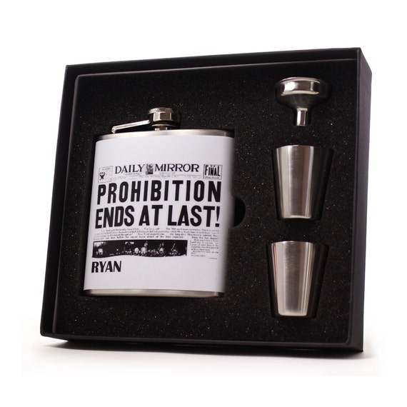 Personalized Flask // Vintage Prohibition Ends Flask
