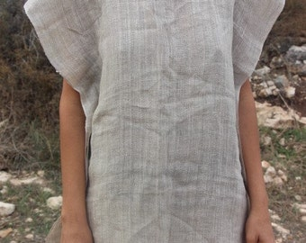 Earthy Natural Linen Top ~
