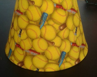 Softball lamp shade
