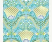 ON SALE - LITTLE Azalea - Dena Fishbein Designs - Hyacinth Aqua Pwdf174 - Free Spirit Fabric - By the Yard