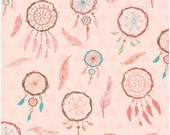 Dreamcatchers 3225-22 - Dreamcatchers on Light Pink  - by  Lucie Crovatto for Studio E Fabrics  - By the Yard