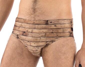 Men's Wood Swimsuit Brief