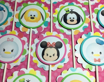 TSUM TSUM MICKEY and Friends Birthday Party Cupcake Toppers