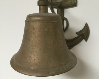 Vintage Nautical Ship Bell on Anchor