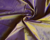 Silk Taffeta in Violet with yellow shimmers, Fat quarter-TF 98