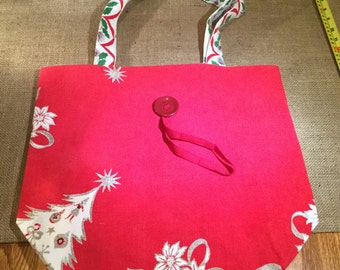 Christmas Roll-up Market Tote