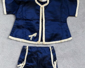 Vintage baby clothes, Doll clothing, Royal blue Vintage baby outfit..