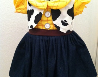Woody Dress {Toy Story Inspired}