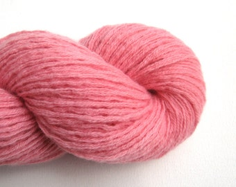 Pure Cashmere Recycled Yarn, DK or Light Worsted Weight, Flamingo Pink, Lot 090516