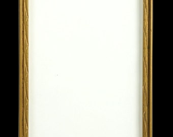Beautiful Gold Painted Wood and Gesso Decorated Picture Frame circa 1920s  (No. 14)